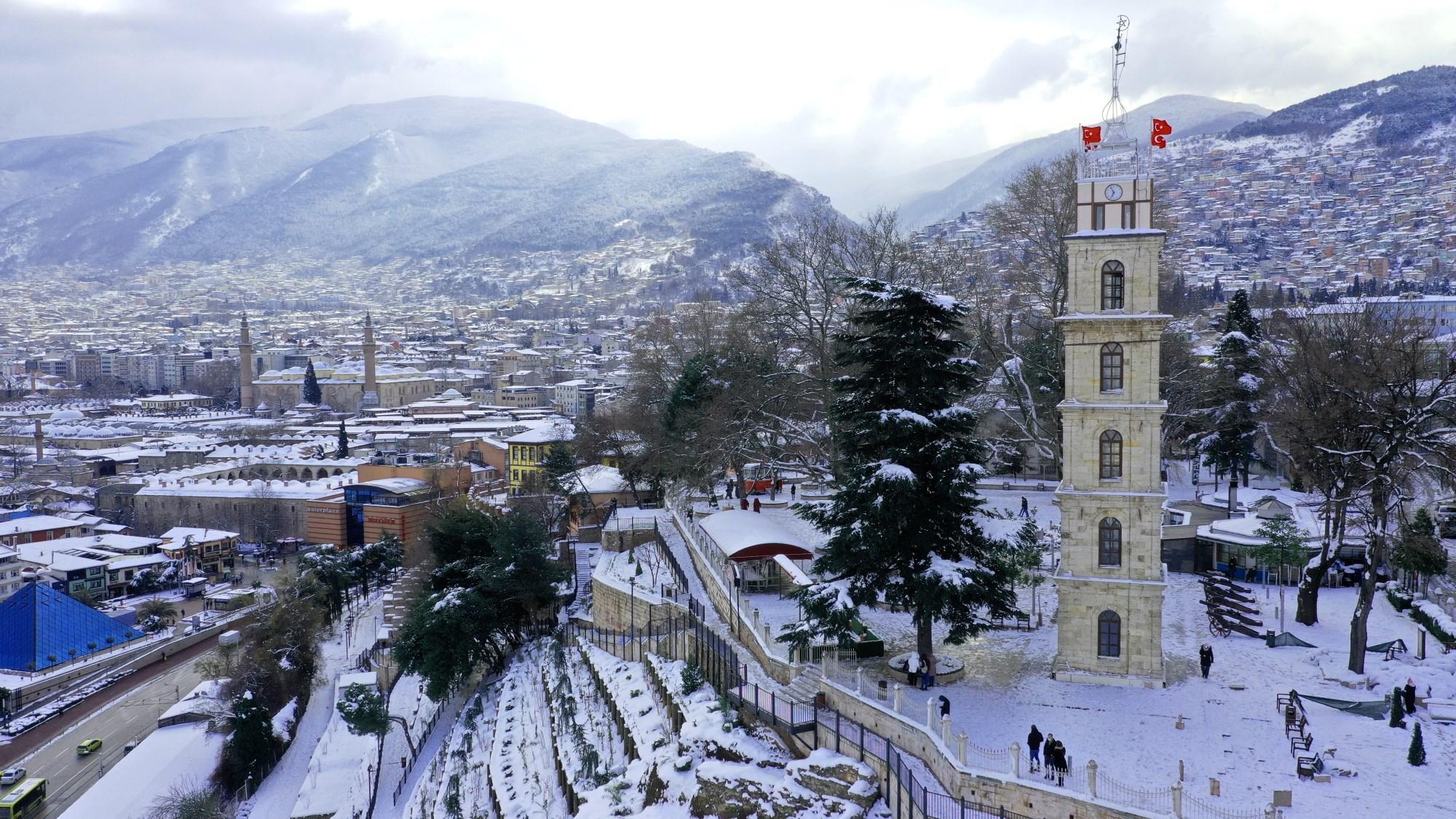 Beyaz gelinlik Bursa'ya çok yakıştı