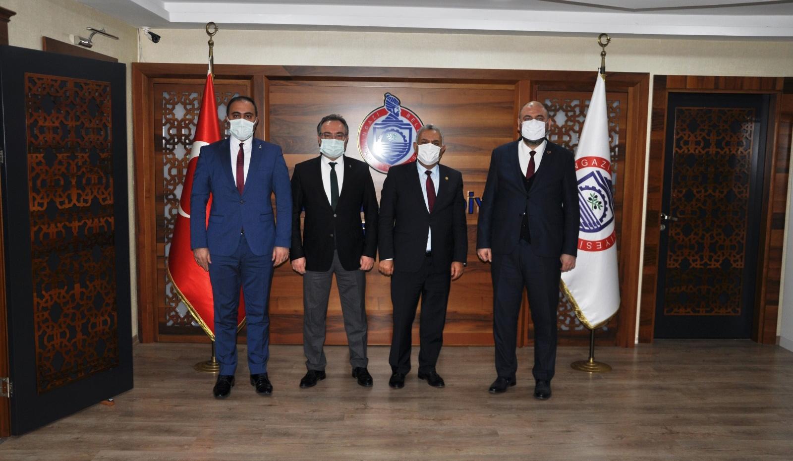 Başkan Aydın Yerel Yönetimler Başkanı Yardımcısı Hüseyin Şanverdi'yi Ağırladı