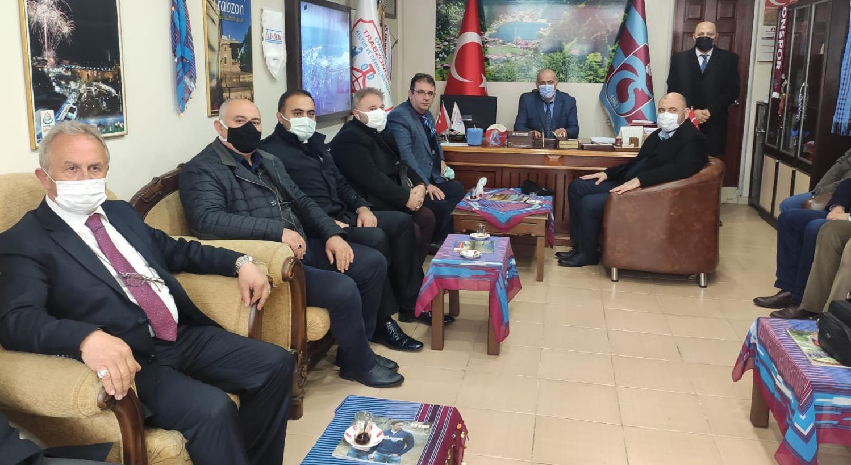 Trabzonlular Dernek Başkanına hayırlı olsun ziyareti