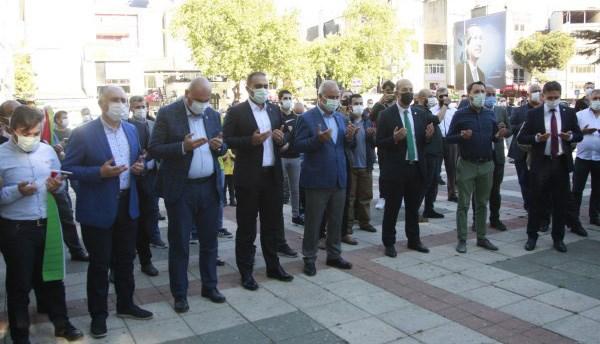 Filistin'e destek, İsrail'e lanet mitingi