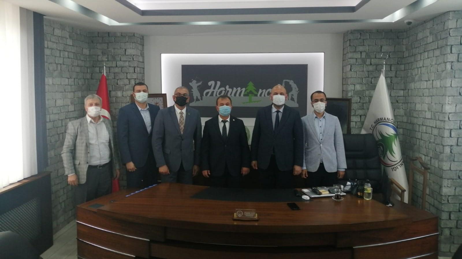 Başkan Aydın'dan Harmancık Belediyesine ziyaret etti